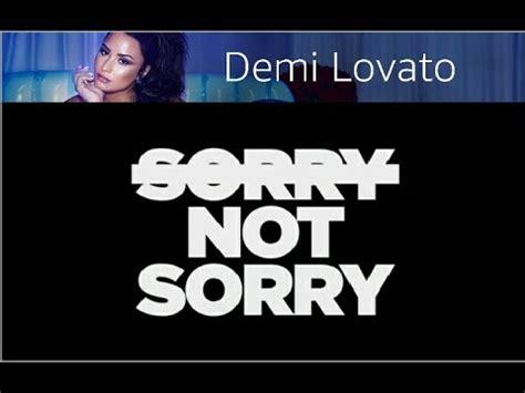 karaoke texty demi lovato sorry not sorry p nk nobody knows