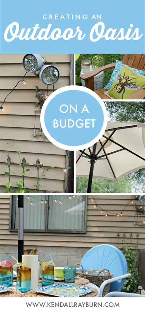 creating a backyard oasis on a budget creating an outdoor oasis