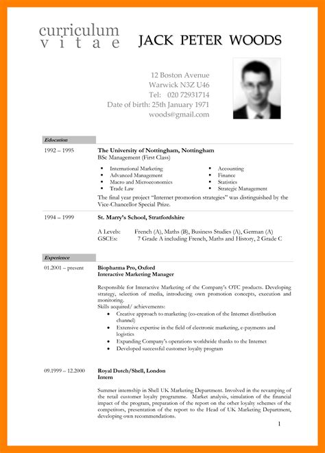 Global Resume And Cv Handbook international standards resume format 28 images
