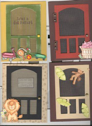 screen card templates screen door greeting card template kit