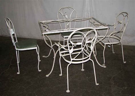 salterini wrought iron patio table chairs olde good things
