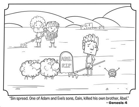 cain and abel bible coloring pages what s in the bible