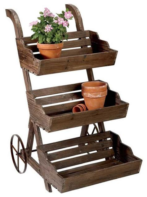 Outdoor Planter Stand by Country Plant Stand Traditional Plant Stands
