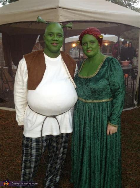 homemade shrek fiona costume  couples