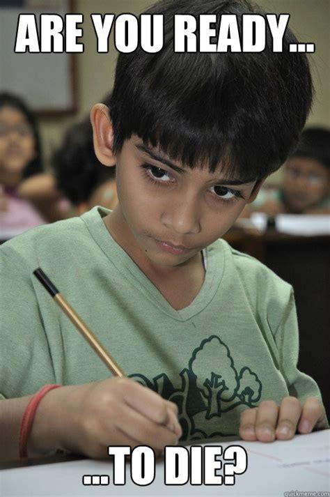 Test Taking Meme - indian kid taking test memes quickmeme