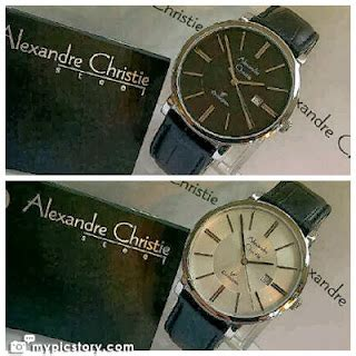 Cristie Original Kulit 9 jam tangan alexandre christie 8344