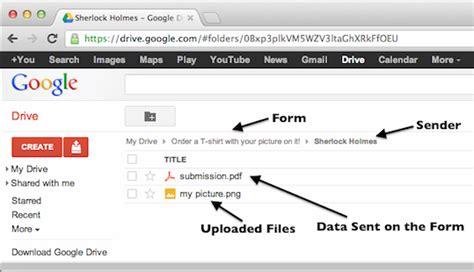 integrate  form  google drive jotform