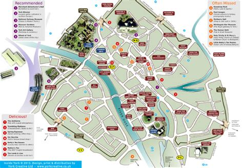 Printable Map York City Centre | free york map inside york