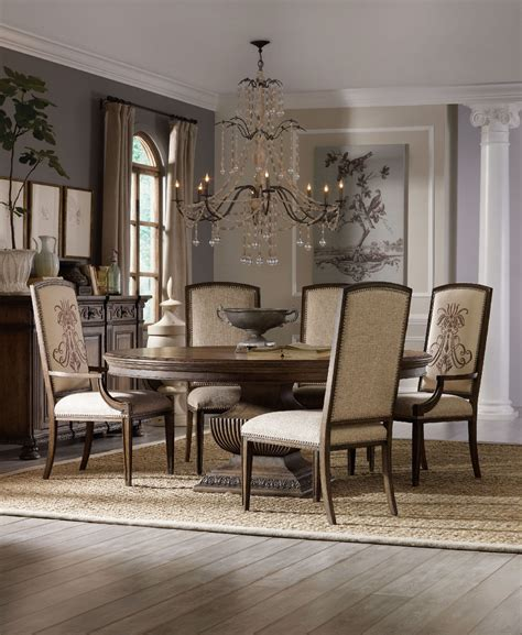 round dining room tables hooker furniture dining room rhapsody 72 quot round dining
