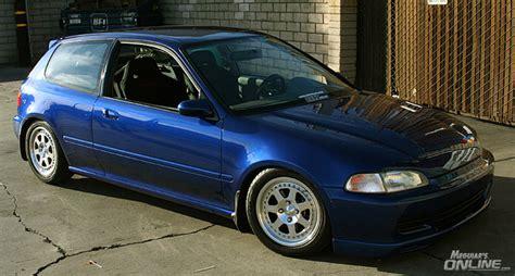 icb motor sports blue eg