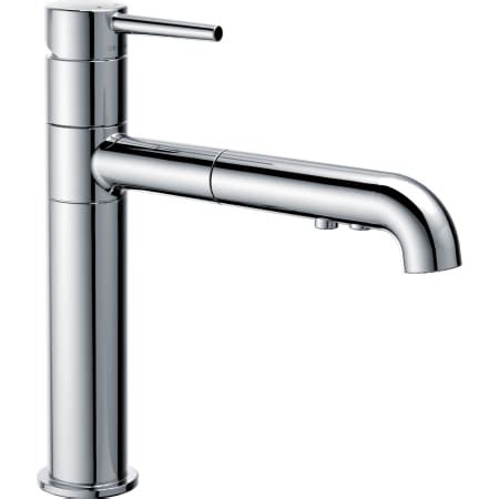 delta 4159 dst chrome trinsic pull out kitchen faucet