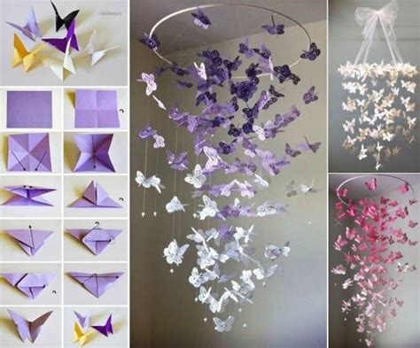 how to make a butterfly chandelier paper butterfly mobile tutorial is so easy the whoot