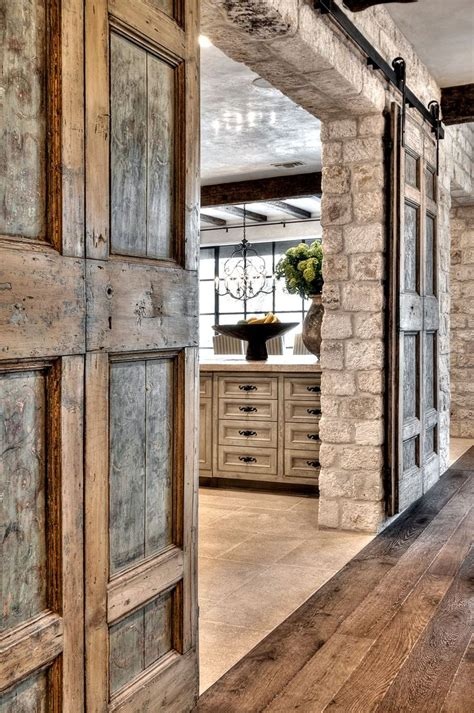 rustic barn doors eye for design decorate with sliding barn doors