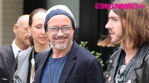 robert downey jr friends robert downey jr has lunch with friends at the palm