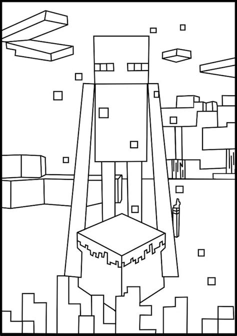 minecraft printable coloring pages a free printable minecraft enderman coloring page found
