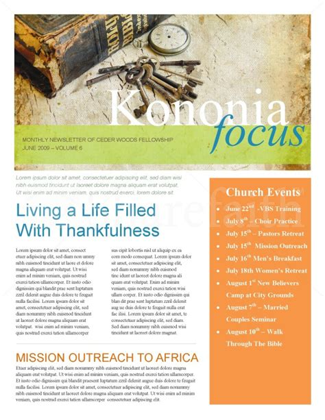 bible church newsletter template newsletter templates