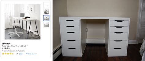 ikea alex desk drawer easy ikea alex table top desk hack