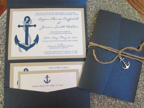 Boat Themed Wedding Invitations by Nautical Theme Destination Wedding Invitation Anchor
