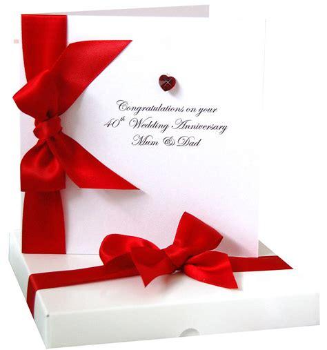 Wedding Anniversary Card Not On The High by Bedazzled Ruby Wedding Anniversary Card By Made With
