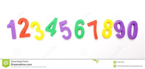 one to ten and numbers lined up stock photography image 31351942