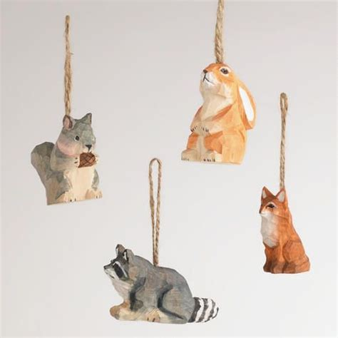 animal tree ornaments trees set of and trees on
