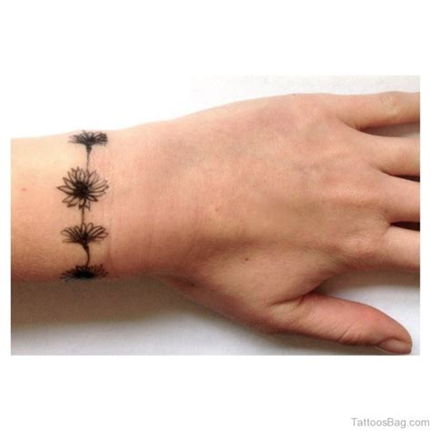 flower tattoo around wrist 46 amusing arm band tattoos on wrist