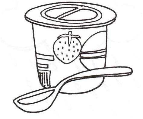 Coloring Page Yogurt by Yogurt Clipart Coloring Pencil And In Color Yogurt