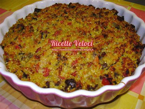 miglio come cucinarlo tortino di miglio con melanzane salsiccia e pomodoro