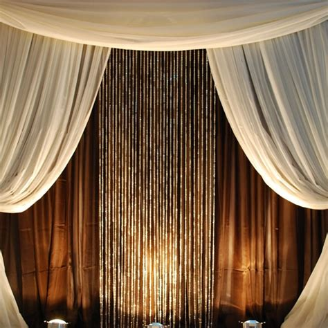 9ft jewel crystal iridescent diamond cut curtain
