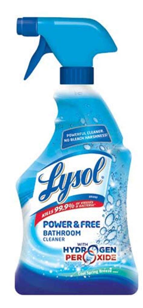 chemical free bathroom cleaner amazon com lysol hydrogen peroxide bathroom cleaner spray