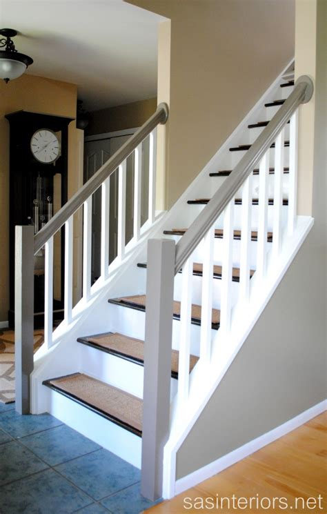 How To Paint A Stair Banister My Staircase Is Finished Jenna Burger