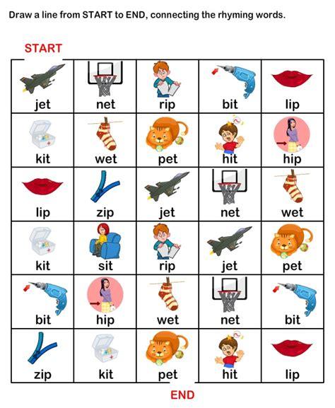 printable worksheets on rhyming words esl efl worksheets kindergarten worksheets rhyme time
