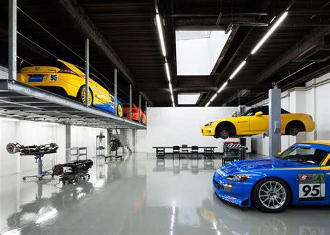 Auto Repair Shop Floor Plans by For Honda Fans Beautiful Garage In Japan