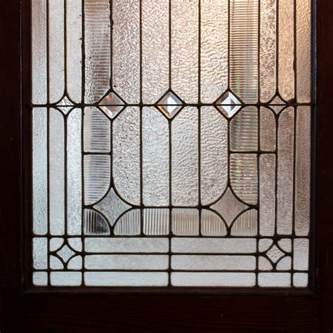 Leaded Glass Exterior Doors Antique 42 Exterior Door With Beveled And Jeweled Leaded Glass C 1905 Ned123 For