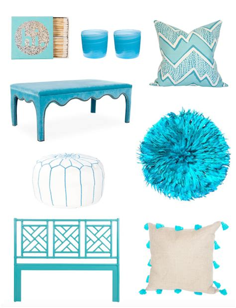 turquoise home decor accents the zhush color crush tranquil turquoise