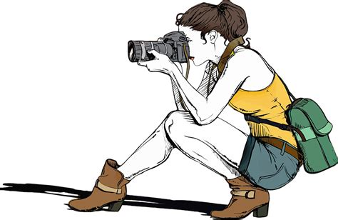 Photographer Clipart free vector graphic photographer