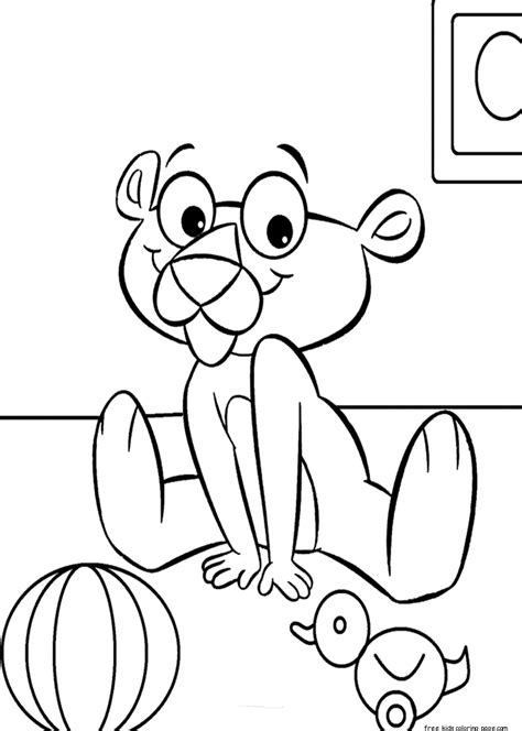 Pink Panther Baby Coloring Book Printablefree Printable Pink Panther Coloring Pages