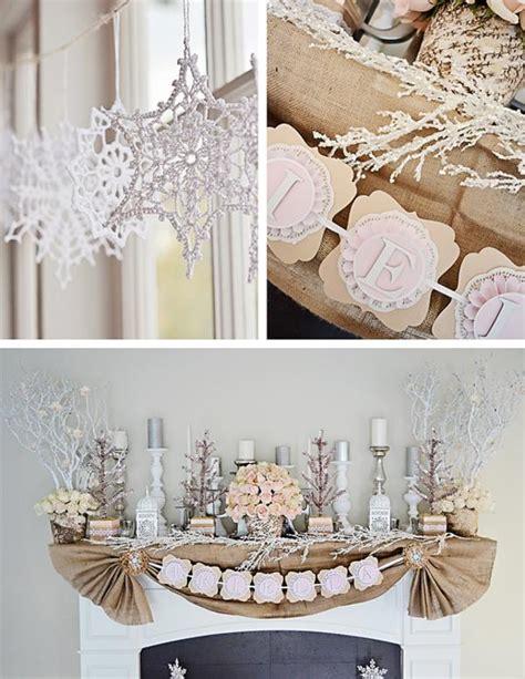 winter 1st birthday centerpieces kara s ideas rustic shabby winter 1st birthday planning ideas