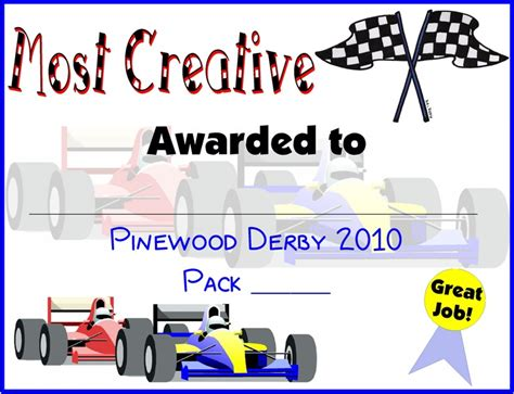 pinewood derby certificate templates pinewood derby certificates scouts