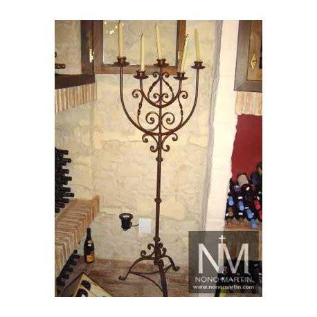 candelabros de pie candelabro de forja de pie 6