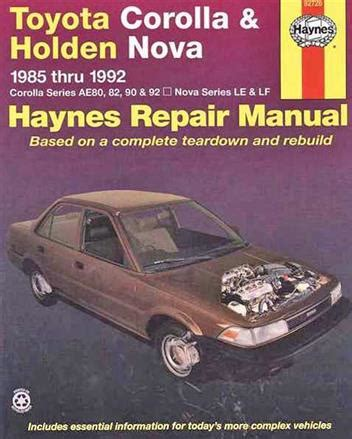 repair manual haynes 24016 fits 82 92 chevrolet camaro ebay toyota corolla holden nova 1985 1992 haynes owners service repair manual 1563922606