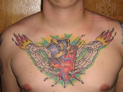 celtic chest tattoos designs on chest