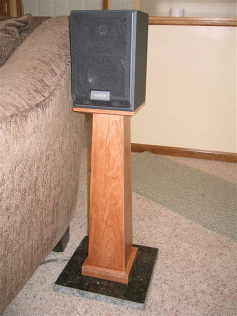 wood speaker stands plans woodproject