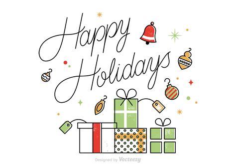 vector happy holidays card   vector art
