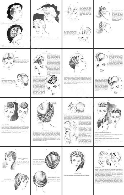 Hair Style Book Pdf by How To Do1950s Hairstyles Ebook 1950s Hairstyles You Can