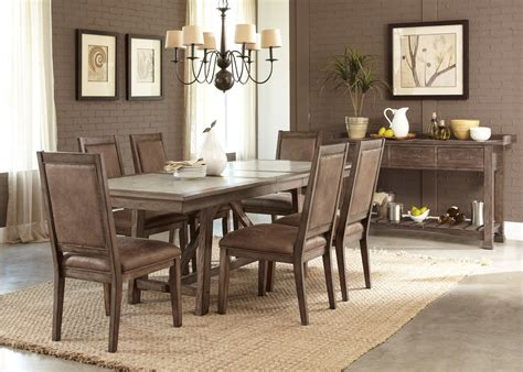sofas recliners dining tables bedroom sets and more stone brook trestle dining room set from liberty 466