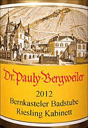 kabinett kã che ken s wine review of 2012 dr pauly bergweiler riesling