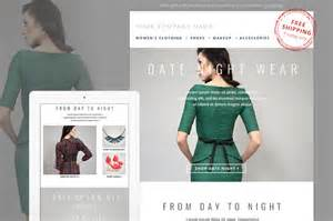 fashion e mail newsletter template by jannalynncreative on