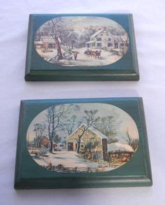 plaques adh駸ives cuisine currier and ives on homesteads winter