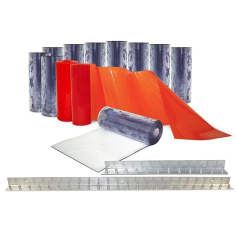 aleco strip curtains aleco clear flex ii 6 ft x 8 ft pvc strip door kit